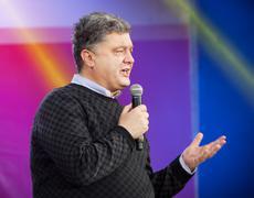 most rating ukrainian presidential candidate petro poroshenko - stock photo