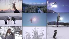 MONTAGE: Winter fun Stock Footage