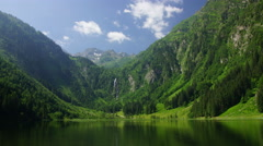 Bodensee lake in Austrian Alps Stock Footage