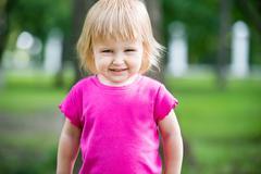 child at playground - stock photo