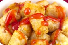 Tater tots bowl Stock Photos