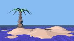 Palm tree on the island Stock Footage