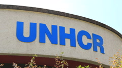 UNHCR in Geneva Stock Footage