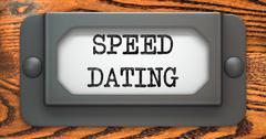 Speed Dating - Concept on Label Holder. Stock Illustration