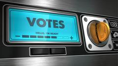 Votes in Display on Vending Machine. Stock Illustration