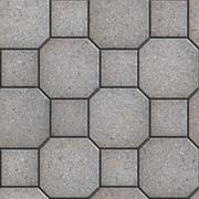 Gray Square and Octagon Paving Slabs. Stock Illustration
