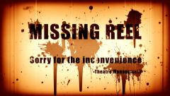 Missing reel and blood splatter Stock Footage