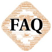Stock Illustration of faq word cloud shape