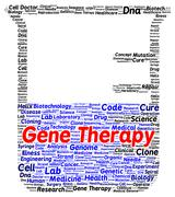 gene therapy word cloud shape - stock illustration