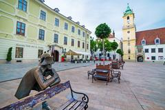 Square in Bratislava - stock photo