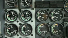 Aircraft panel and dials Stock Footage
