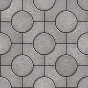 Tracery Gray Paving Slabs. Stock Illustration