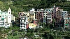Europe Italy Liguria Cinque Terre national park 007 cityscape of Manarola Stock Footage