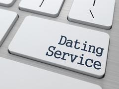 Stock Illustration of Dating Service Button on Computer Keyboard.
