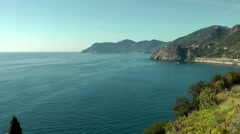 Europe Italy Liguria Cinque Terre national park 010 landscape near Manarola Stock Footage