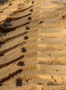 Trace the sand Stock Photos