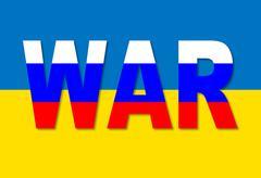 Russian ukrainian conflict. Stock Illustration