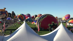Stock Video Footage of Hot Air Balloons ready for ascension Albuquerque 4K 004