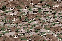 Camouflage Fabric Texture Background - stock illustration