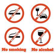 Stock Illustration of no smoking no alcohol