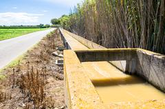 irrigation ditch - stock photo