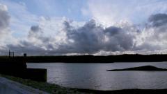 Beliche Dam still  timelapse B Stock Footage