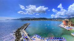 Rapallo Bay Liguria Italy - 30FPS 4K UHD Stock Footage