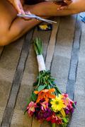 Young florist Stock Photos