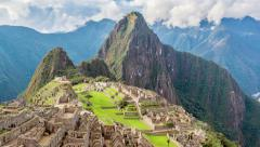 Time Lapse Zooming away from Machu Picchu in 4k Stock Footage