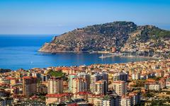 Alanya panorama Stock Photos