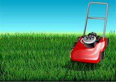 Grass and mow Stock Illustration