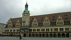Historical Leipzig old town hall. Stock Footage