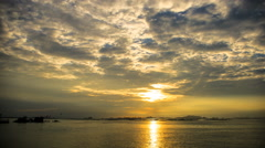 Sunset at Koh Si Chang island, Thailand (Time lapse) Stock Footage