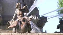 ROTUNDA FOUNTAIN STATUE, AIX, FRANCE Stock Footage