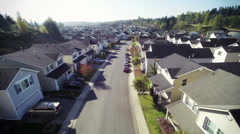 Residential area. Suburb aerial footage Stock Footage