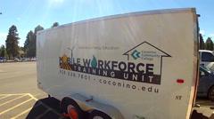 Alternative Energy Education Mobile Training Unit- Flagstaff AZ Stock Footage