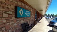 Coconino Community College Building Flagstaff Arizona Stock Footage