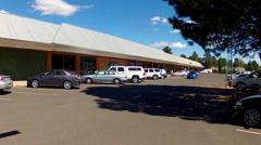 Coconino Community College Flagstaff Arizona- Wide Shot Stock Footage