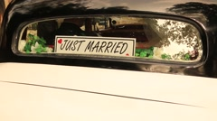 Car Just Married Stock Footage