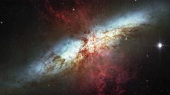 188 Starburst Galaxy Messier 82 Animation, 4K Stock Footage