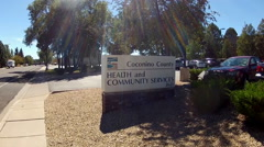 Sign- Coconino County Health And Community Services- Zoom Stock Footage