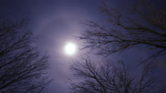 Ring around the Moon Stock Footage