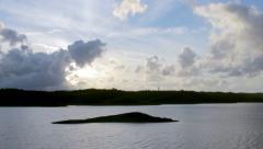 Beliche Dam still  timelapse D Stock Footage