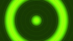 Abstract green background, flash circle light, loop Stock Footage