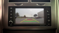 Vehicle In-Dash Backup Camera Stock Footage