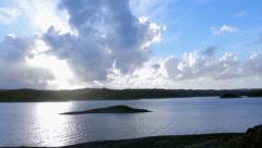 Beliche Dam still timelapse C Stock Footage