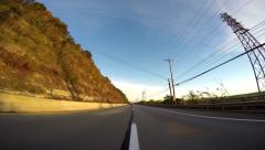 4K POV Driving on Highway Stock Footage
