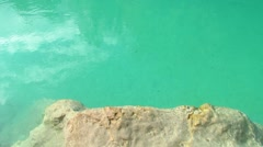 Emerald colour river Stock Footage