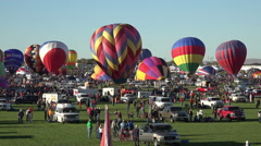 Albuquerque Balloon Fest setting up to fly timelapse 4K 002 Stock Footage