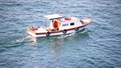Fisherboat is working in Selimpaşa, Istanbul Stock Footage